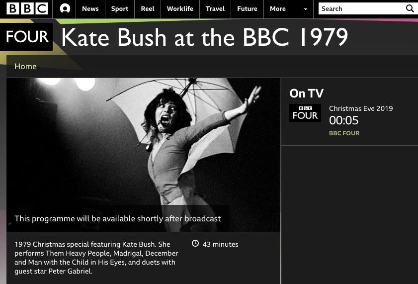 Kate on BBC4