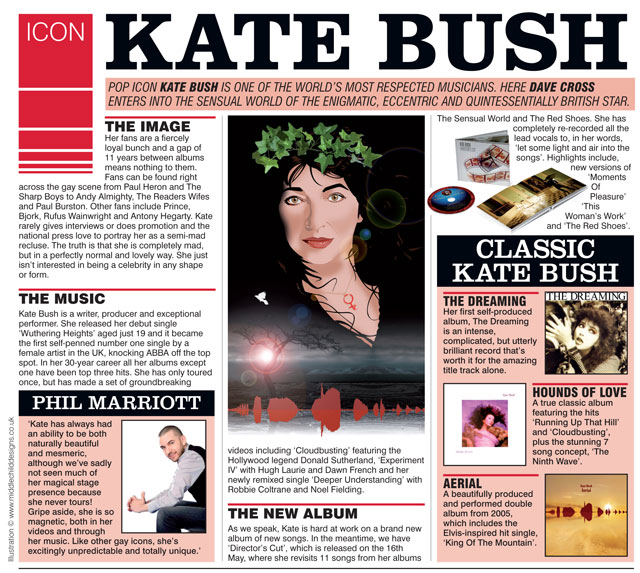 Dave Cross feature in Boyz on Kate Bush 5/5/11