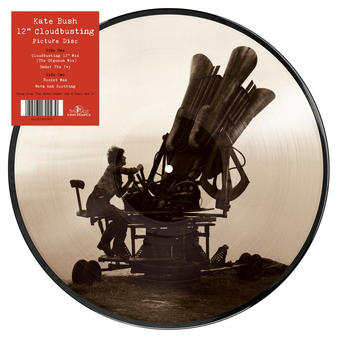 "Cloudbusting released as 4-track 12"" picture disc on 24th"