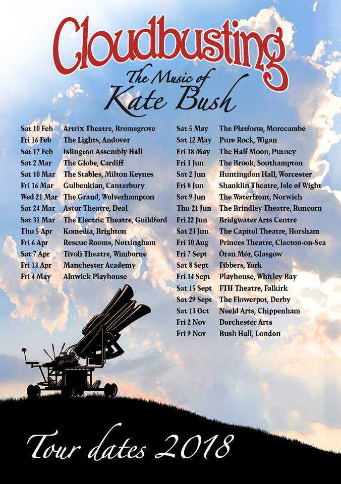 Cloudbusting 2018 dates