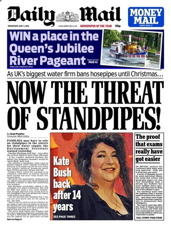 Daily Mail 2nd May 2012