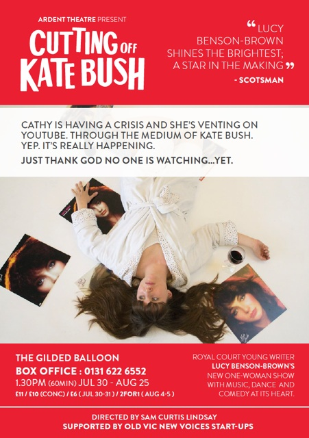 Cutting off Kate Bush poster