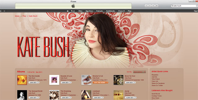 Kate's iTunes store