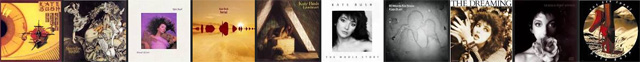 Kate Bush album covers