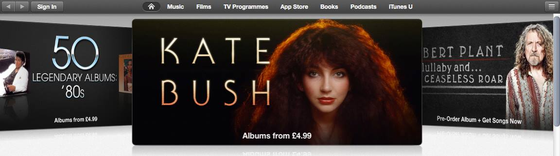 Kate on iTunes