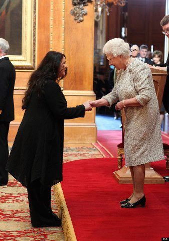 Kate receives her CBE from the Queen