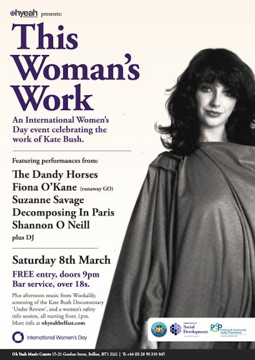 Belfast International Women's Day Kate Bush event