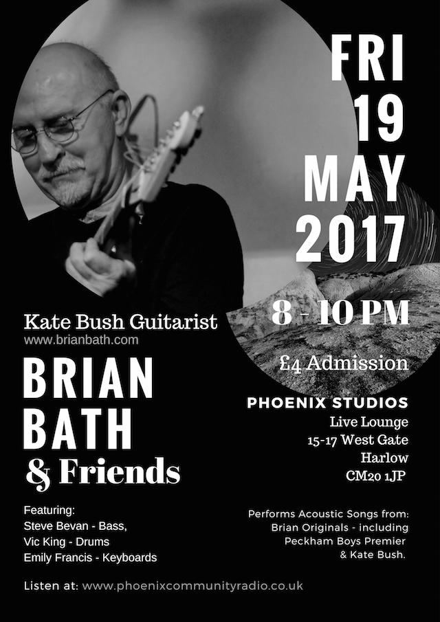 Brian Bath radio concert poster