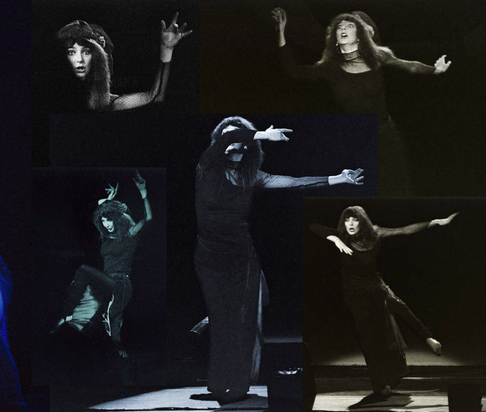 Kate Bush on stage 1979