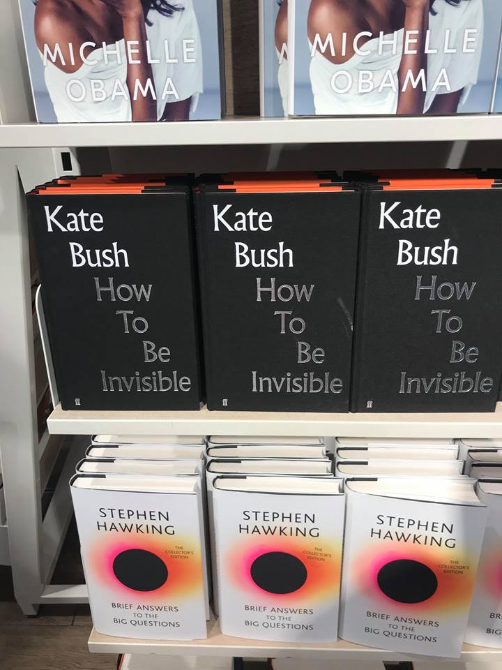 Kate's book in Waterstones