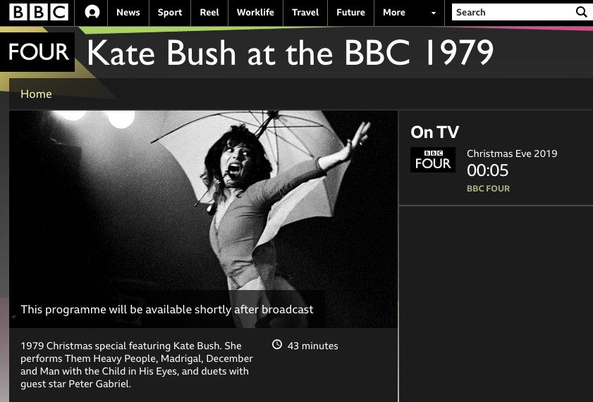 Kate on BBC4