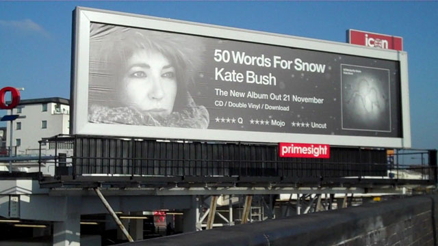 Billboard in West London advertising 50 Words For Snow