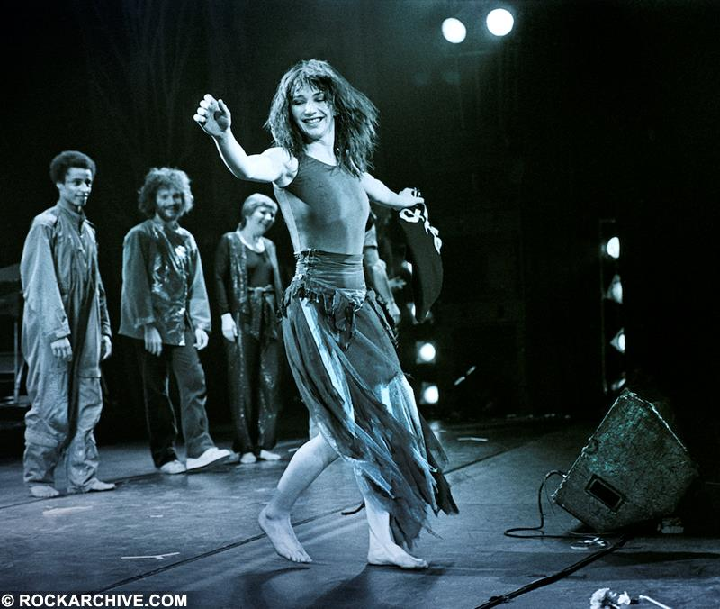 Kate on stage 1979