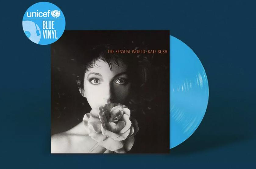 UNICEF blue vinyl disc