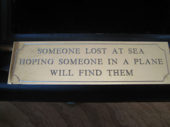 Someone Lost at Sea Hoping Someone In A Plane Will Find Them