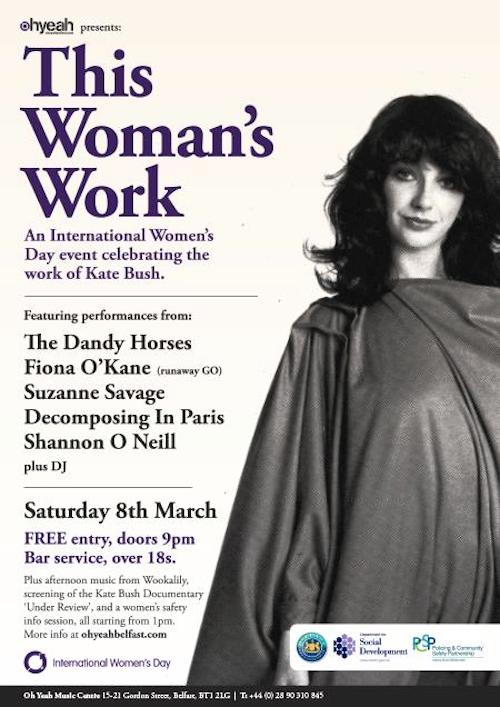 Belfast International Women's Day Kate Bush event